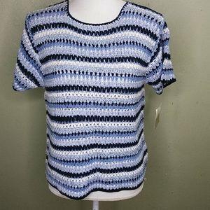 Vintage Lizwear Crochet   Top PM/L NWT